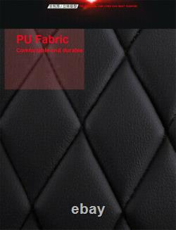 Noir/rouge Luxe Pu Cuir Seat Mat Four Seasons Universal Car Seat Cover Pad