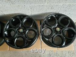Nouvel Ensemble Authentique Alfa Romeo De 4x 19 Teledial 4c Alloy Wheels, 156 147, Gta, Gtv