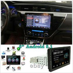 Réglable 8 1 Din Android 8.1 Voiture Stereo Radio Fm Mp5 Player Nav Gps Bt Wifi