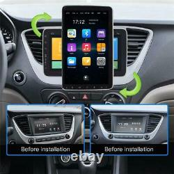 Single Din Android 9.1 Voiture Stéréo Mp5 Player Wifi Gps Navi Radio 10.1in +caméra