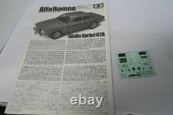 Tamiya 1/24 Alfa Romeo Giulia Sprint Gta 1/24 Alfa Romeo Gta Jr 1300 Kit Résine
