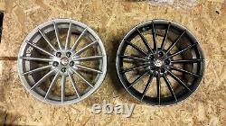 Véritable Alfa Romeo Gt Jetfins 18 Alliage Roues 156 147 Gta Gtv Toora Gunmetal