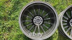 Véritable Alfa Romeo Gt Jetfins 18 Alliage Roues Toora 156 147 Gtv Gta Spider Grey
