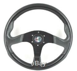 Véritable Momo 350mm Volant En Cuir. Alfa Romeo Alfasud Alfetta Araignée 7b