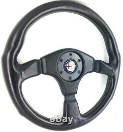 Véritable Momo 360mm Volant En Cuir. Alfa Romeo Sz, Alfetta Araignée Etc 9c