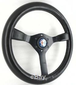 Véritable Momo Cavallino Volant En Cuir 350mm. Alfa Romeo Spider Etc 7b