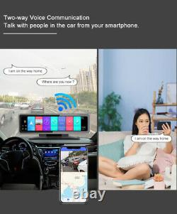 Voiture 12in 4g Android 9.0 4chs Enregistreur Dashbaord Cam Wifi Adas Cam Vidéo Hd 2+32g