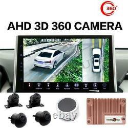 Voiture 4 Caméra 3d Panoramique Oiseau Oiseaux Vue Surround 1080p Hd Dvr Dash Cam Universal